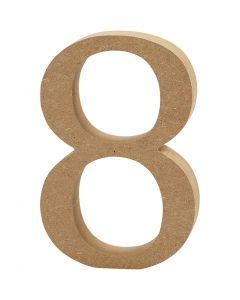 Chiffre, 8, ép. 1,5 cm, 1 pièce