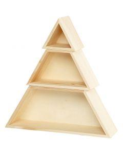 Boîtes de rangement, H: 8+10+12 cm, L: 9+18+29 cm, 1 set
