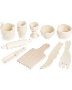 Ustensiles de cuisine, L: 40-60 mm, 10 pièce/ 1 Pq.