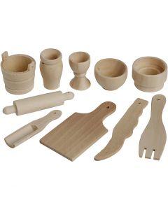 Ustensiles de cuisine, L: 40-60 mm, 50 pièce/ 1 Pq.
