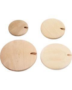 Bouton en bois / perle, d: 20-35 mm, 320 pièce/ 1 Pq.
