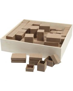 Boîtes, H: 2,5-5 cm, 4x15 pièce/ 1 Pq.