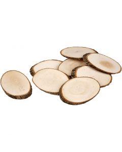 Disques en bois, ép. 8 mm, 12 pièce/ 1 Pq.