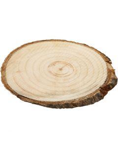 Disques en bois, dim. 9,5x6 cm, ép. 6 mm, 12 pièce/ 1 Pq.