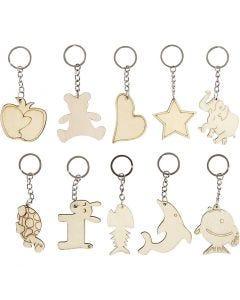 Porte clés, dim. 5,5x5,5 cm, ép. 2 mm, 30 pièce/ 1 Pq.
