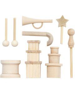 Petits accessoires, L: 2-5,5 cm, 1 Pq.