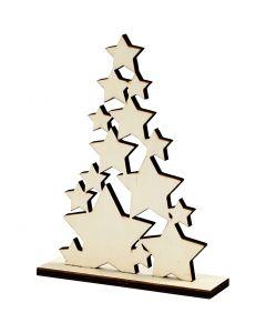 Sapin de Noël, H: 19,6 cm, prof. 4 cm, L: 14,7 cm, 1 pièce