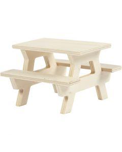 Table de pique-nique, H: 5,5 cm, L: 8 cm, 1 pièce