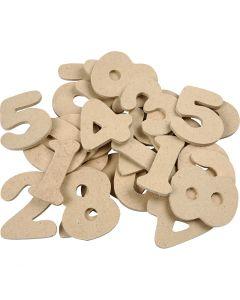 Chiffre, H: 4 cm, ép. 2,5 mm, 30 pièce/ 1 Pq.