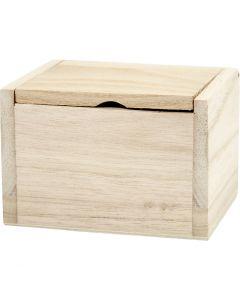 Boîte rustique, dim. 10x8,2x6,7 cm, 1 pièce