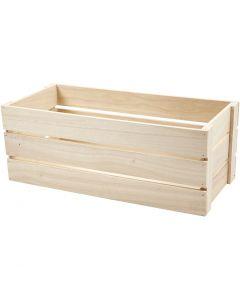 Cageot en bois, H: 17 cm, dim. 45x20 cm, 1 pièce