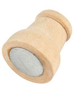 Aimant sur pièce en bois, H: 13 mm, d: 9-12 mm, 20 pièce/ 1 Pq.