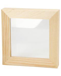 Cadre 3D avec vitre, prof. 2,5 cm, dim. 12,3x12,3 cm, 1 pièce