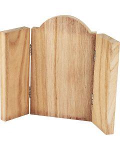 Panneau à trois volets, dim. 18x22 cm, 1 pièce