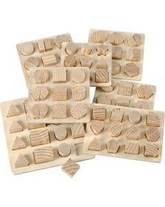 Puzzle, dim. 12,5x12,5-19,5x19,5 cm, 7 pièce/ 1 Pq.