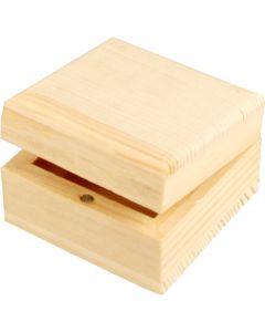 Boîte à bijoux, dim. 6x6x3,5 cm, 1 pièce