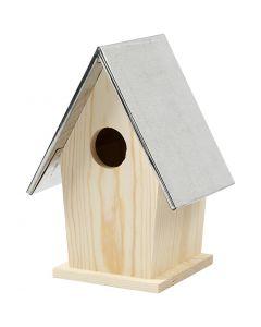 Nichoir avec toit en zinc, dim. 13,5x11x19 cm, diamètre intérieur 32 mm, 1 pièce