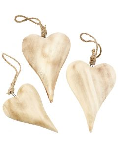 Coeurs, H: 9,5+15 cm, Le contenu peut varier , 6 pièce/ 1 Pq.