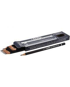 Crayons gris Art Design, d: 6,9 mm, dureté 5B, mine 1,8 mm, 12 pièce/ 1 Pq.
