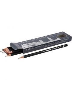 Crayons gris Art Design, d: 6,9 mm, dureté 2H, mine 1,8 mm, 12 pièce/ 1 Pq.