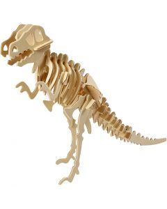 Kit de construction 3D en bois, Dinosaure, dim. 33x8x23 cm, 1 pièce