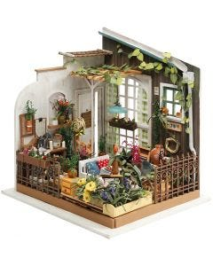 Pièce miniature DIY, H: 21 cm, L: 19,5 cm, 1 pièce