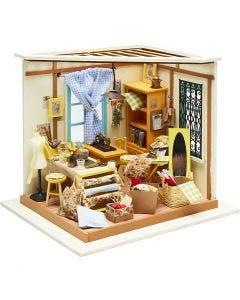 Pièce miniature DIY, H: 19 cm, L: 22,5 cm, 1 pièce