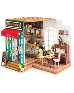 Pièce miniature DIY, H: 19 cm, L: 22,6 cm, L: 19,4 cm, 1 pièce