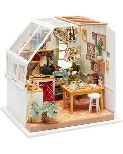 Pièce miniature DIY, H: 18,7 cm, L: 19 cm, 1 pièce