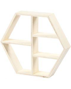 Etagère en bois, H: 25 cm, prof. 5 cm, L: 28,5 cm, 1 pièce