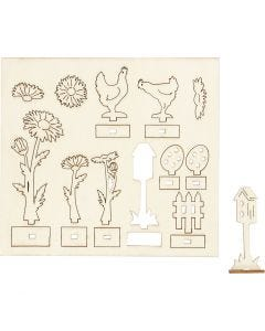 Figurines à assembler, L: 15,5 cm, L: 17 cm, 1 Pq.