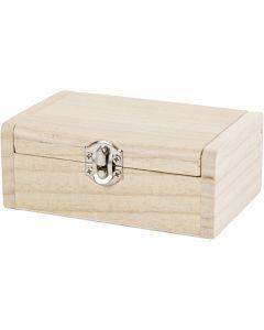 Boîte à bijoux, H: 4.5 cm, L: 11.5 cm, L: 7,5 cm, 1 pièce