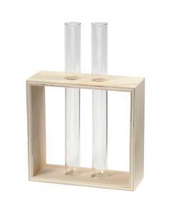 Porte-éprouvettes, H: 10+15 cm, prof. 4 cm, L: 10,5 cm, 1 pièce