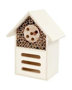 Hôtel à insectes, H: 18 cm, prof. 9 cm, L: 14 cm, 1 pièce