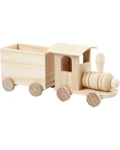 Train jouet avec wagon, H: 9,5 cm, L: 21,5 cm, L: 6,5 cm, 1 pièce