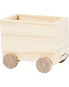 Wagon, H: 8 cm, L: 9,5 cm, L: 6,5 cm, 1 pièce