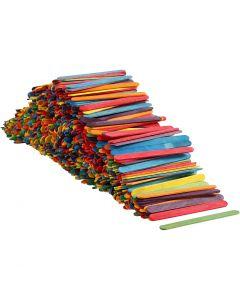 Bâtonnets de glace, L: 11,4 cm, L: 10 mm, couleurs assorties, 1000 pièce/ 1 Pq.
