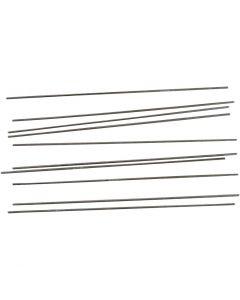 Tiges en métal, L: 20 cm, d: 2 mm, 10 pièce/ 1 Pq.