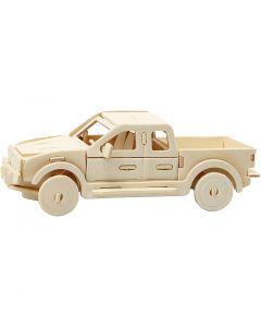 Figurine à assembler en 3D, Pick-up, dim. 19,5x8x12 cm, 1 pièce