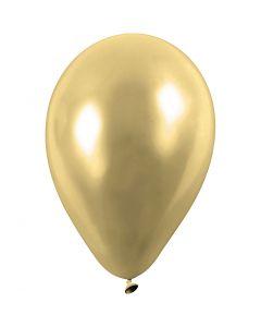 Ballons, rond, d: 23 cm, or, 8 pièce/ 1 Pq.