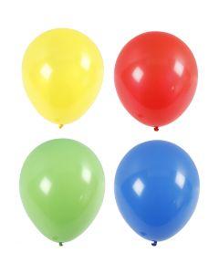 Ballons, géant, d: 41 cm, bleu, vert, rouge, jaune, 4 pièce/ 1 Pq.