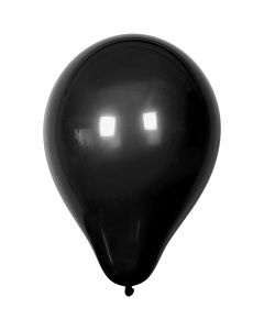 Ballons, d: 23 cm, noir, 10 pièce/ 1 Pq.
