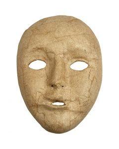 Masque visage , H: 17,5 cm, L: 12,5 cm, 1 pièce