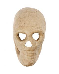 Masque tête de mort, H: 13 cm, 1 pièce