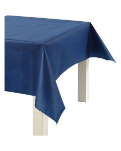 Nappe de table ou immitation tissu, L: 125 cm, 70 gr, bleu foncé, 10 m/ 1 rouleau