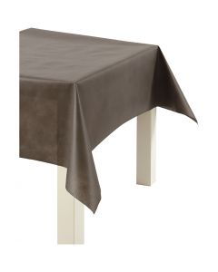 Nappe de table ou immitation tissu, L: 125 cm, 70 gr, brun, 10 m/ 1 rouleau