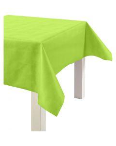 Nappe de table ou immitation tissu, L: 125 cm, 70 gr, vert citron, 10 m/ 1 rouleau