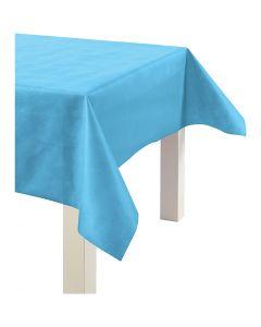 Nappe de table ou immitation tissu, L: 125 cm, 70 gr, turquoise, 10 m/ 1 rouleau