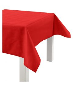 Nappe de table ou immitation tissu, L: 125 cm, 70 gr, rouge, 10 m/ 1 rouleau