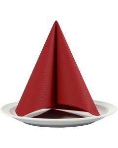 Serviettes de table, dim. 40x40 cm, 60 gr, rouge vin, 20 pièce/ 1 Pq.